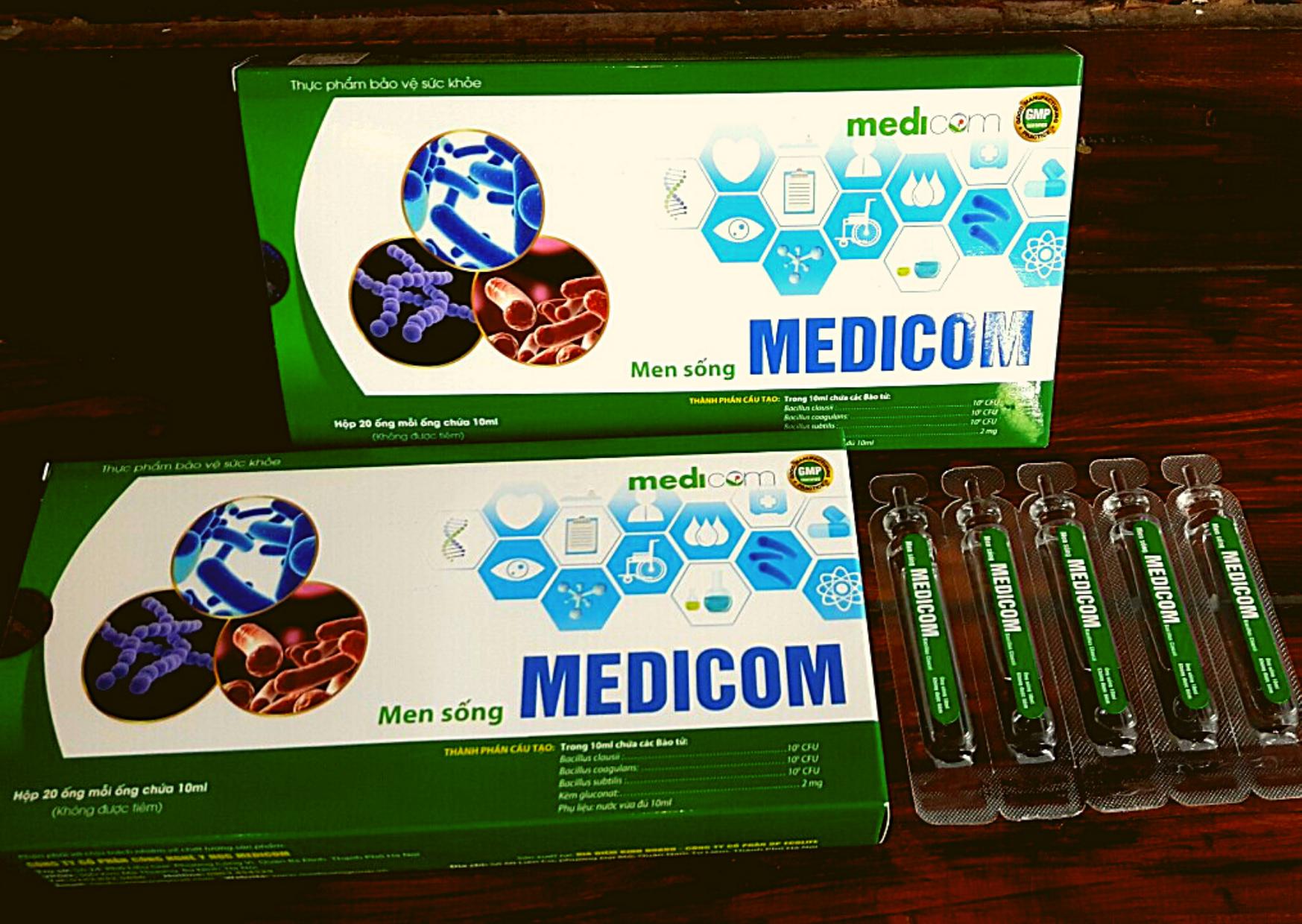 Men sống MEDICOM- Đặc trị táo bón mãn tính