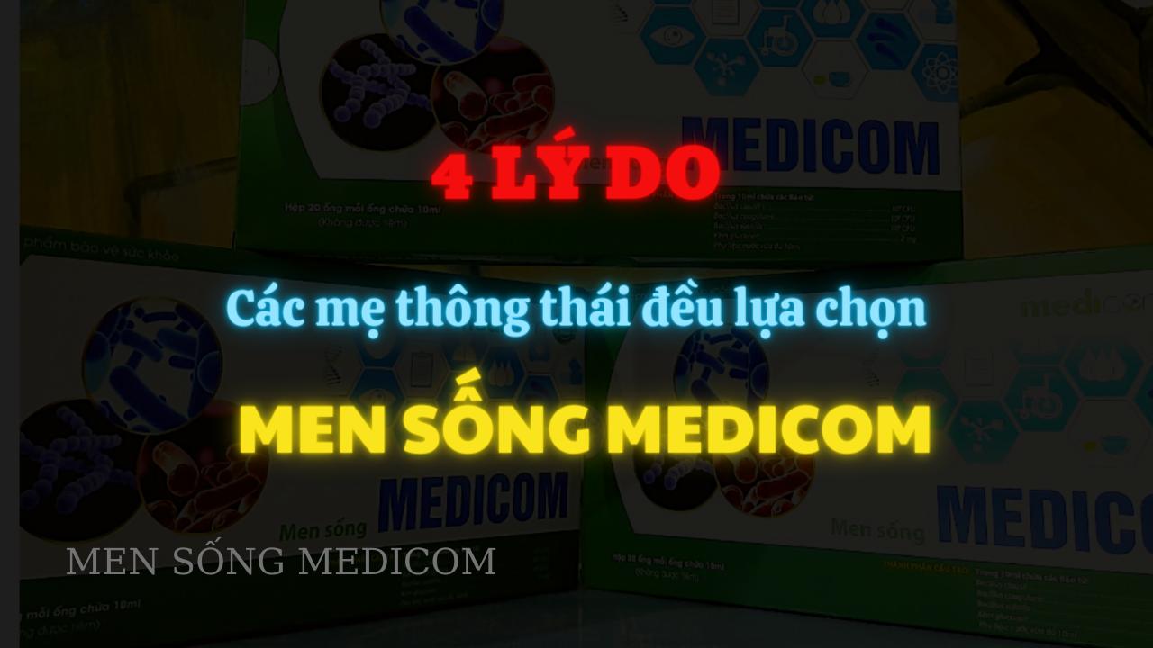 🤔Lý do lựa chọn men sống MEDICOM cho bé?
