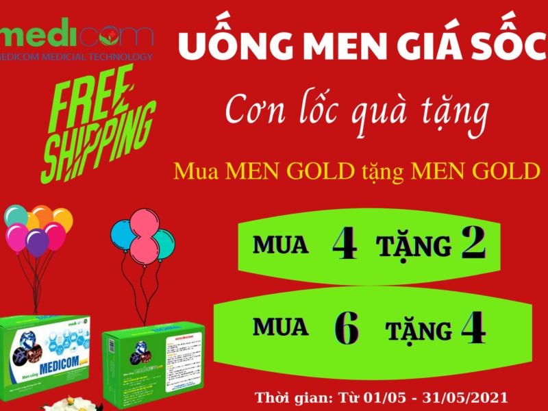 Khuyến mại Men sống bạch mai Medicom Gold (Vi khuẩn sống)